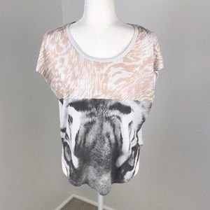 Nike White Tiger Graphic Tee Size S
